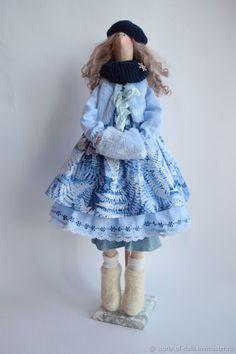 Куклы Тильды ручной работы. Зимняя девочка -куколка в стиле Тильда. Елена. Ярмарка Мастеров. Кукла Тильда, хлопок американский