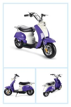 Mototec 24-Volt Electric Moped Inside Purple - The greatest ride for kids thirteen years and up, the MotoTec 24-Volt Electric Moped is a great casual riding for driveway and auto parking lot fun. Equipped with front and rear compact disk brakes and large 10 #harleydavidsonstreetcustom #harleydavidsonstreetroadking #harleydavidsonstreet750 #harleydavidsonstreetbobber #harleydavidsonstreetrod #harleydavidsonstreetbob Black Harley Davidson, Harley Davidson Street, Electric Moped, Road King Classic, Motorcycle Exhaust, Sportbikes, Street Rods, Custom Motorcycles, Maserati