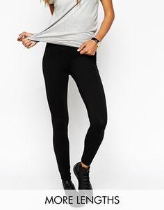ASOS – Lange Leggings mit hoher Taille