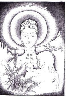 Sarlós Boldogasszony: Proksza Györgyi alkotása Art, Male Sketch, Kryon, Maria