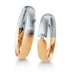Breuning Trouwringen | Inspiration collectie gouden ringen | 4mm briljant 0.03ct verkrijgbaar in 8,14 en 18 karaat | 48041550 / 48041560 OOK in wit geel en rood goud verkrijgbaar of in 2 kleuren goud #trouwringen