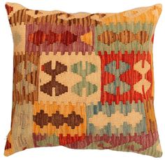 Handmade kilim cushion cover 48x48cm,P #346 by WitcheryRugs on Etsy