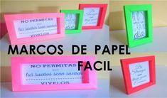 Hazlo Tu Mismo Marcos O Cuadros De Papel - Fácil Soloing, Shadow Box, Quilling, Origami, Scrapbook, Youtube, Projects, Cards, Diy