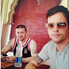 Ross McCall and his brother in India May 2013