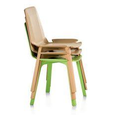 Sedie impilabili Gap Chair di Werner Aisslinger per Fornasarig