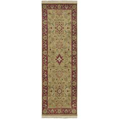 Hand-knotted Babylon Collection Wool Rug with Free Rug Pad
