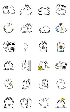 Mini Wanga & Huhu LINE Sticker -