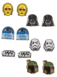 Star Wars Stud Earrings Set at PLASTICLAND