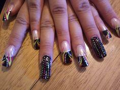 Sin city Vegas nail art