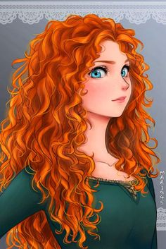 Great I Like To Draw Disney Princesses Characters From The Anime - Magical The Brave Merida. The princess. Anime Disney Princess, Anime Princesse Disney, Disney Princess Drawings, Disney Princess Pictures, Disney Fan Art, Disney Drawings, Disney Princesses, Drawing Disney, Punk Disney