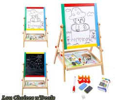 Art easel portable kids drawing double #board #black #white children painting toy,  View more on the LINK: http://www.zeppy.io/product/gb/2/192091171505/