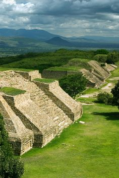 The ruins at Monte Albán /Oaxaca, Mexico/.  Mount Alban was one of the first major cities in Mesoamerica and the center of a Zapotec. If you have the chance, go. It's amazing!