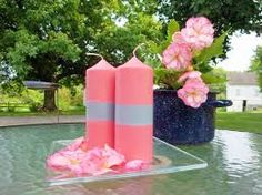 pink and black candles decor - Google Search