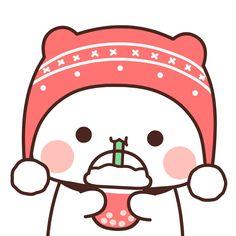 Cute Bear Drawings, Cute Cartoon Drawings, Cute Kawaii Drawings, Cute Cartoon Pictures, Cute Love Pictures, Cute Love Cartoons, Cartoon Images, Cute Anime Cat, Cute Cat Gif