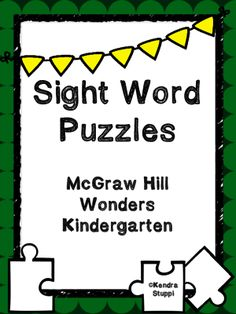 McGraw Hill Wonders - Sight Word Puzzles from For The Love Of Kindergarten on TeachersNotebook.com -  (27 pages)  - Great for small group or independent practice!  Includes all 40 sight words taught in the Wonders Kindergarten program.   Have students record the words on the included worksheets.