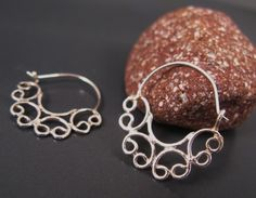 Delicate dainty earrings Fashion gifts Filligree by DvoraSchleffer on Etsy