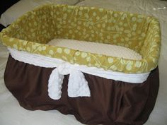 Tweetie Pie Baby: Done! DIY Moses Basket! an alternative to buying one, not sure what i think of it but maybe if i could find a laundry basket that would be big enough and sturdy enough