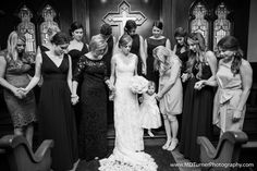Praying with the bridal party pre-ceremony - Houston wedding photography - MD Turner Photography