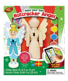 Look at this Paint Your Own Nutcracker Angel Set on #zulily today!
