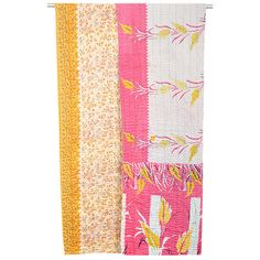 Kantha Quilted Throw - Pink Looker
