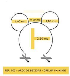 Arco de bexigas orelha da minnie.jpg (525×573)