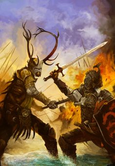 Robert Baratheon and Rhaeger Targaryan at Battle of The Trident.