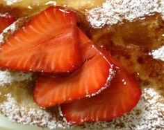 Maple Sugar Strawberry French Toast with Syrup