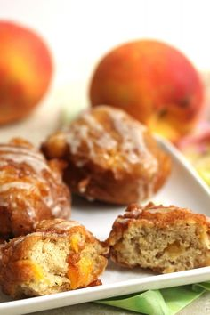 Deliciously Irresistible Homemade Peach Fritters!