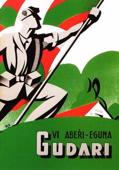 Old gudari eguna poster. Spain History, Propaganda Art, Political Posters, Basque Country, Design Reference, Vintage Ads, Spanish, Symbols, War