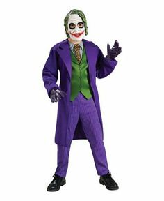 Joker Costume deluxe - Child Costume - Large . $36.88. Item Sizing: The size guide found below is specific to the costume in this listing. Other costumes may have different sizing patterns. For example, company A's size medium may be equivalent to company B's size large. Be sure to check the size chart closely to make sure you know what you are ordering. The list below may indicate that more than one size fits you. If you are unsure of which size to choose, then go with th...