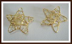 Designo Draht Stern gold35 mm 2 Stück von A -Z Bastelshop auf DaWanda.com