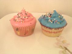 Vanilla pink n blue icing