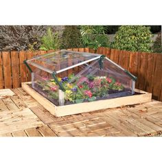 Palram Cold Frame Double 3 Ft 6 In X 5 Mini Garden Greenhouse 700872 The Home Depot