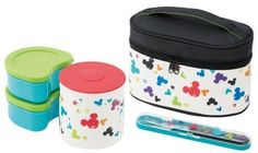 NEW Warm Stainless BENTO Lunch Box Disney Mickey j47 Free Shipping From Japan