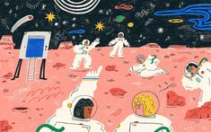 Why Women's Bodies Are Better Suited for Space Travel | by Starre Julia Vartan | Elemental Dream Illustration, Space Travel, Cute Art, Art Inspo, Art Drawings, Character Design, Animation, Better Suited, Painting