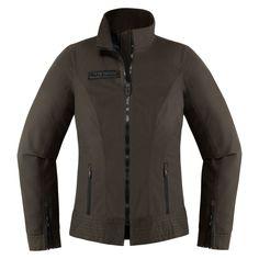 Fairlady Textile - Espresso | Jackets | ICON 1000 - Go fast, look flash. Textiles, L Icon, Metal Chest, Restaurant Logo, Jacket Pins, Nylons, Riding Jacket, Fair Lady, Toddler Girls