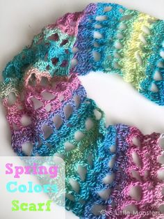 5 Little Monsters: Spring Colors Scarf