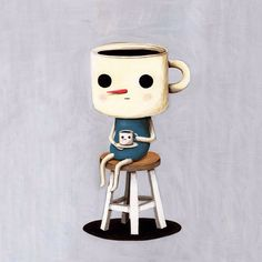 Coffee cup holding a coffee cup so silly ☕️