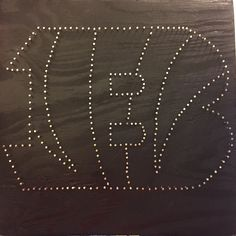 "cincinnati bengals custom string art 12"" x 12"" $36 Nailed Kit includes String $45 Complete"