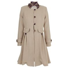 There's nothing like a tailored coat to update cold-weather looks. True to quality design this coat is detailed with front pockets, a structured collar and detail on the centre back. Wear yours as a sophisticated outer layer. Tailored Coat, Cold Weather, Beige, Shirt Dress, Stone, Jackets, How To Wear, Stuff To Buy, Shirts