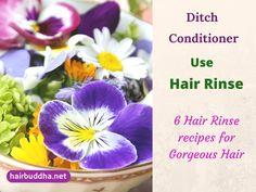 Ditch Conditioner, Use Hair Rinse: 6 Hair Rinse Recipes for Gorgeous hair - hair buddha Natural Hair Care, Natural Hair Styles, Natural Skin, Natural Beauty, Herbs For Hair Growth, Diy Conditioner, Reduce Hair Fall, Hair Pack, Hair Rinse