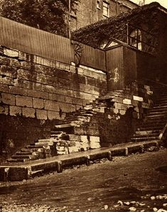 Old photos of the old Watermen's Stairs on the Thames at Wapping, Ratcliffe Cross, Shadwell and Limehouse with a riverside walk linking them up. Victorian London, Vintage London, Old London, London Pictures, London Photos, London History, British History, Mudlarking Thames, River Thames