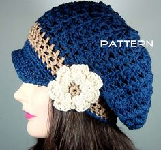Thank you to Melissa Martinez for posting her crochet pattern for a slouchy newsboy hat with flower on Ravelry. Need to make one of these before it gets cold.