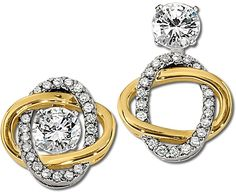 #Diamond earring jackets from Gottlieb & Sons convert from knots to drops! @gottliebsons