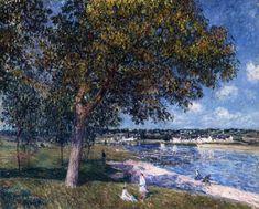 Alfred Sisley - Walnut Tree in a Thomery Field, 1880, oil on canvas, 57 x 71 cm