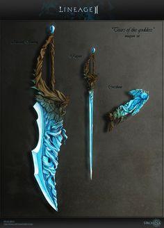 Weapon set Lineage 2 by Urchina.deviantart.com on @DeviantArt