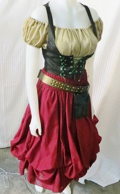 Hey, I found this really awesome Etsy listing at https://www.etsy.com/listing/165961465/renaissance-gypsywench-costume-from