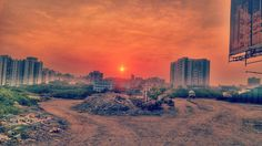 The ruins of yesterday will make tomorrow's empire..#sun #sunset #sunrise_sunsets_aroundworld #nature #sky #sunset_ig  #sunporn #natgeo #landscaper #color  #magical #india #pune  #pic #potd #wanderlust  #lonelyplanet #life #inspiration #instagood #ig_sunset #throwbackthursday #ruins #metropolis #cityscape #building #construction #eveningsky #beautiful