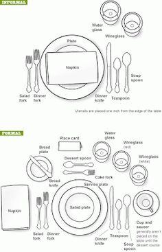 proper table setting formal table settings setting table table setting