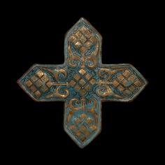 Croix de revêtement Ladjvardina, Kashan, art ilkhanide, deuxième moitié du 13e siècle